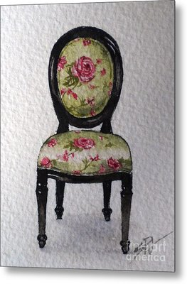 French Chair Metal Print by Sandra Phryce-Jones