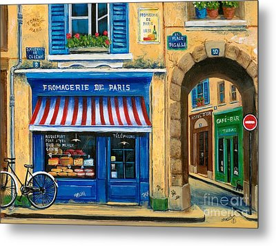 French Cheese Shop Metal Print