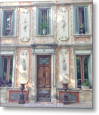 French Door Metal Print