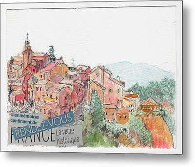 French Hill Top Village Metal Print by Tilly Strauss
