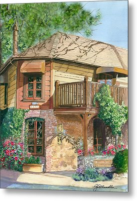 Metal Print featuring the painting French Laundry Restaurant by Gail Chandler