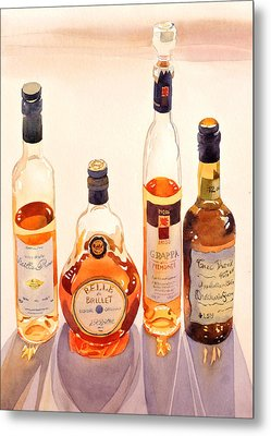 French Liqueurs Metal Print by Mary Helmreich