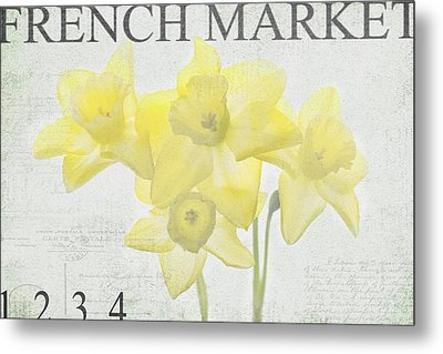 French Market Series C Metal Print by Rebecca Cozart
