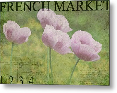 French Market Series P Metal Print by Rebecca Cozart