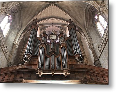 Metal Print featuring the photograph French Organ by Christin Brodie