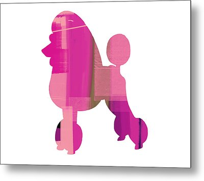 French Poodle Metal Print by Naxart Studio