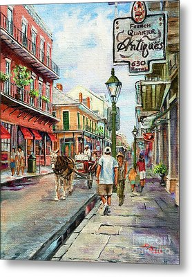 French Quarter Antiques Metal Print