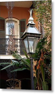 Metal Print featuring the photograph French Quarter Courtyard by KG Thienemann