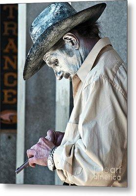 French Quarter Cowboy Mime Metal Print by Kathleen K Parker