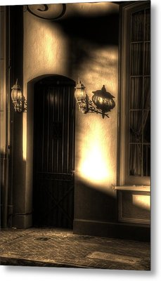French Quarter Door Metal Print by Greg and Chrystal Mimbs