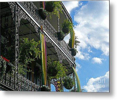 French Quarter Iron Work Metal Print by Jeanne  Woods