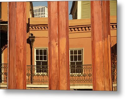 French Quarter Reflection Metal Print