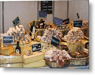 French Sausage And Cheese Metal Print