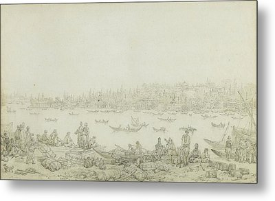 French Seraglio Point Seen From Galata Metal Print by Jean Baptiste