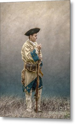 French Soldier French And Indian War Metal Print by Randy Steele
