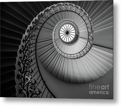 French Spiral Staircase 1 Metal Print