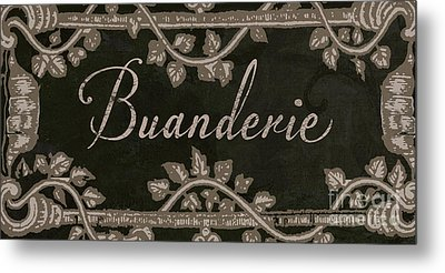 French Vintage Laundry Sign Metal Print