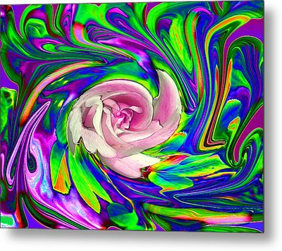 French Wild Rose Metal Print by Rose Guay