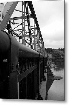 Frenchtown Bridge Metal Print by Amanda Vouglas