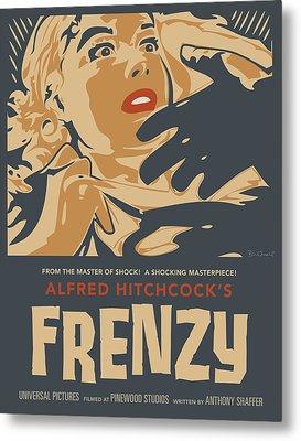 Frenzy - Thriller Noir Metal Print by Bill ONeil