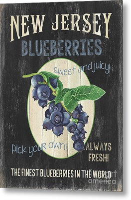 Metal Print featuring the painting Fresh Berries 1 by Debbie DeWitt
