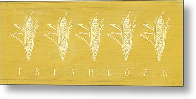 Fresh Corn- Art By Linda Woods Metal Print
