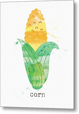 Fresh Corn Metal Print by Linda Woods