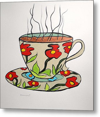 Metal Print featuring the painting Fresh Cup by John Williams