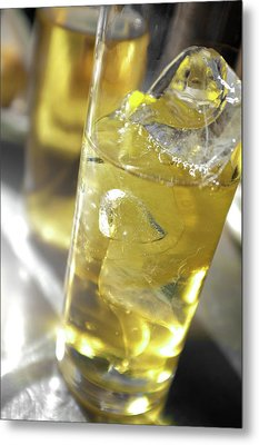 Metal Print featuring the photograph Fresh Drink With Lemon by Carlos Caetano