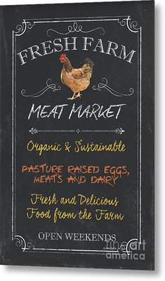 Fresh Farm Meat Metal Print by Debbie DeWitt