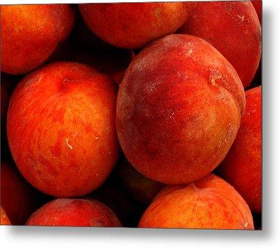 Fresh Fuzzy Peaches Metal Print