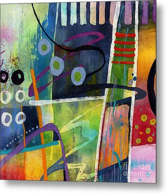 Fresh Jazz In A Square Metal Print by Hailey E Herrera