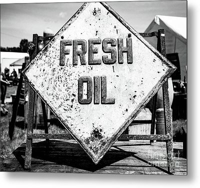 Fresh Oil Metal Print by April Ann Canada
