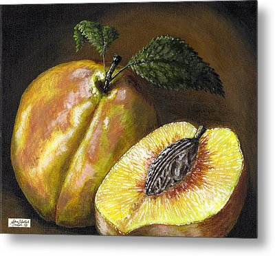 Fresh Peaches Metal Print by Adam Zebediah Joseph