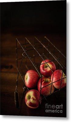 Fresh Picked Apples Metal Print