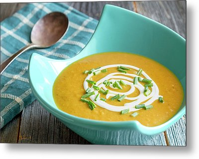 Fresh Pumpkin Squash Soup Metal Print