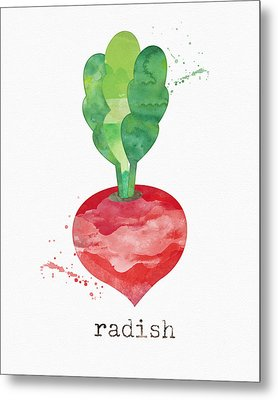 Fresh Radish Metal Print by Linda Woods