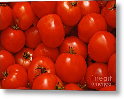 Fresh Red Tomatoes Metal Print by Thomas Marchessault
