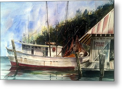 Fresh Shrimp Alabama Metal Print by Don F  Bradford