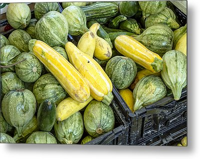 Fresh Squash At The Market Metal Print