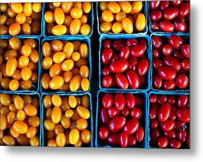 Fresh Tomatoes Metal Print by S R Shilling