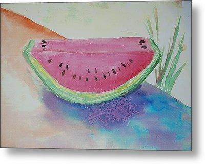 Fresh Watermelon Metal Print by Aldonia Bailey