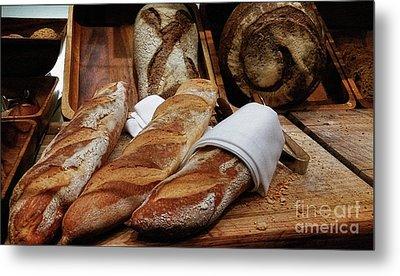 Freshly Baked Bread By Kaye Menner Metal Print by Kaye Menner