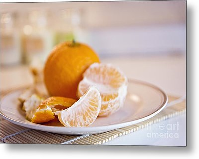 Metal Print featuring the photograph Freshly Peeled Citrus by Cindy Garber Iverson