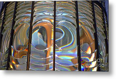 Fresnel Lens Metal Print by Larry Keahey