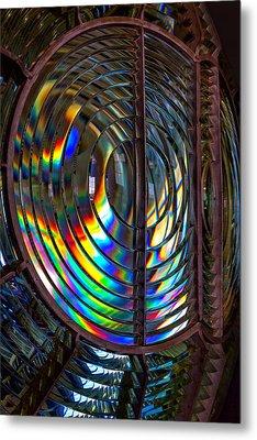 Fresnel Lens Point Arena Lighthouse Metal Print