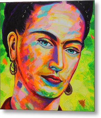 Frida Metal Print by Angel Ortiz