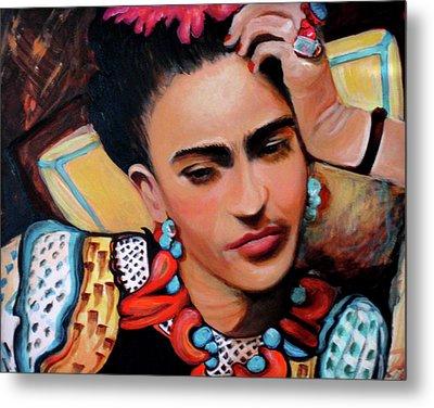 Frida Metal Print by Jan VonBokel