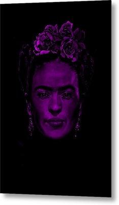 Frida Kahlo  Metal Print by Brian Broadway