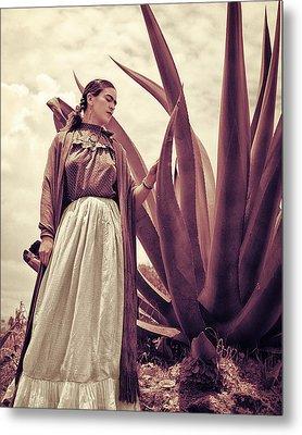 Frida Kahlo Metal Print by Carlos Lazurtegui